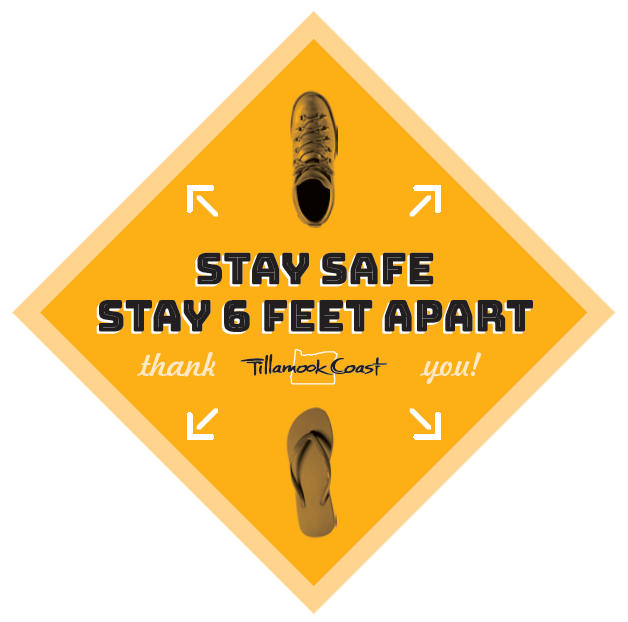 Stay safe. Stay 6 feet apart.