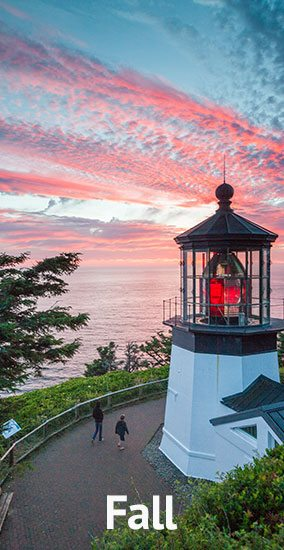 Our Seasons Fall Cape Meares Lighthouse