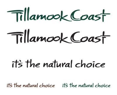 Tillamook Coast Logo Wordmark Tagline