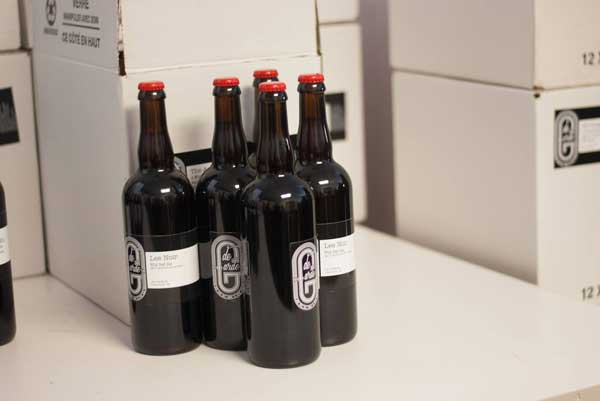 Bottle of de Garde beer on a counter