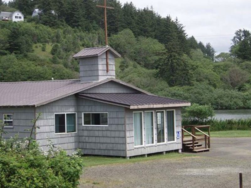 Chapel that serves as headquarters for Neskowin Chamber Music