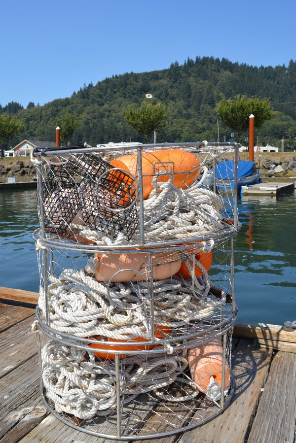 Crabbing equipment on the dock