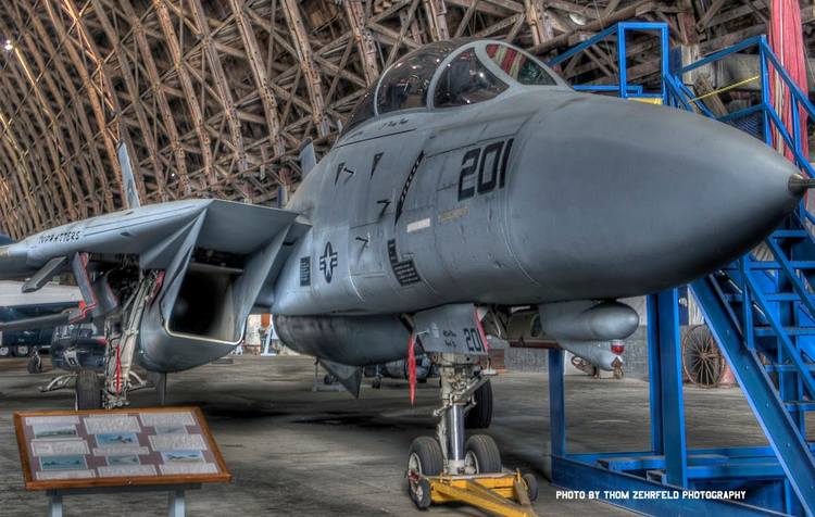 This Grumman F-14A Tomcat is part of the Naval Air Station Tillamook Museum's aircraft collection. (Photo by Thom Zehrfeld Photography)