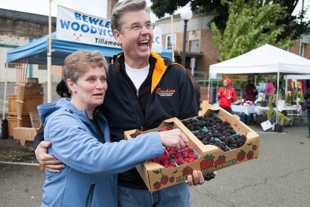 Fresh Berries at Tillamook Farmer's Market