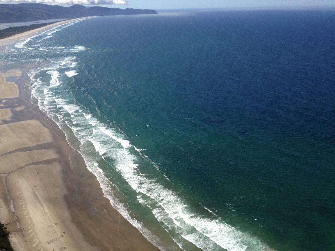 View of Oceanside and Netarts from a hand glider