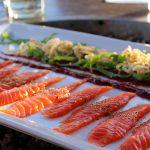 Coho Belly Sashimi Saketoro at The Schooner Restaurant Lounge - photo by Carrie Uffindel
