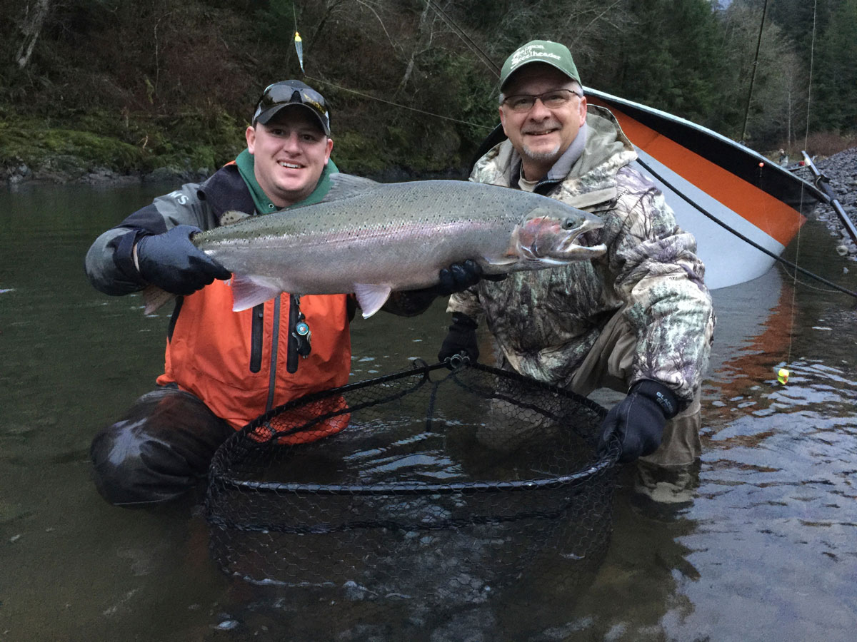 John Lewis steelhead Wilson River Josiah Darr fishing guide