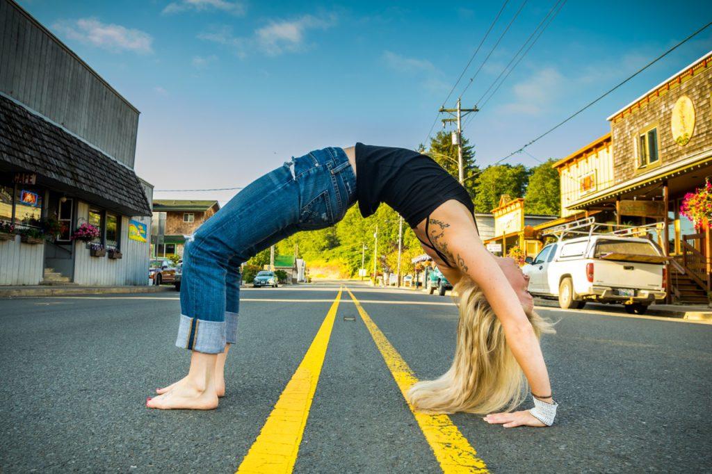 Yoga photo taken in Nehalem by Travis Williams