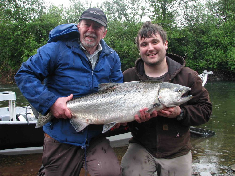 Spring Chinook caught on the Nestucca River