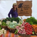 Farmer Carolina Lees of Corvus Landing Farm