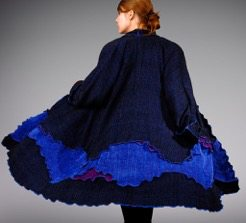 Handwoven Ruffled Edge Coat
