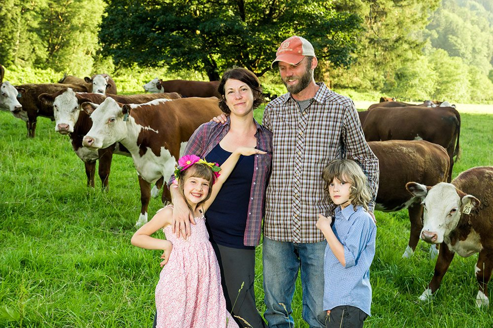 Nehalem River Ranch family with cows