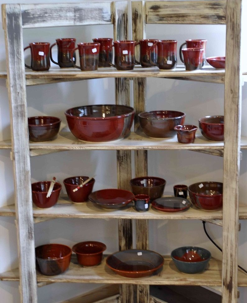 Pottery is available at local farmers markets