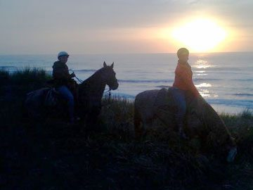 Tillamook Coast sunset Oregon Beach Rides