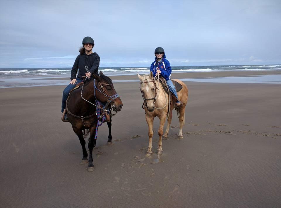 Horseback riding beach Oregon Beach Rides