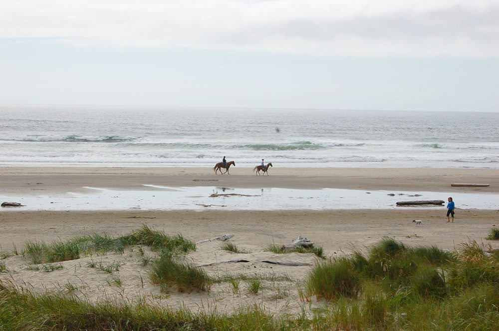 Tillamook Coast beach horseback riding