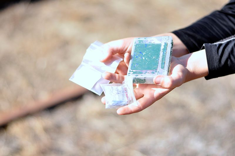 Smaller geocache for writing names
