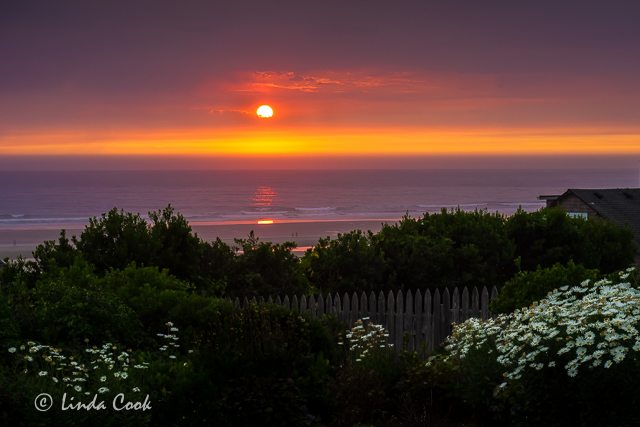 Tillamook Coast gorgeous sunset