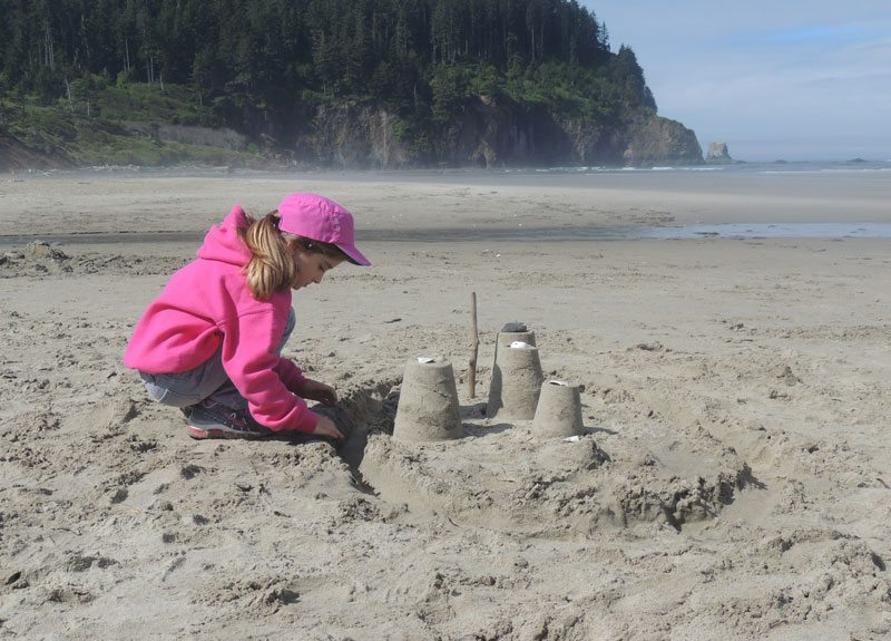 Sand castles on Cape Meares