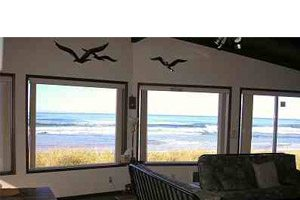 Windows looking out onto the beach