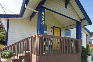 Exterior of the motel office
