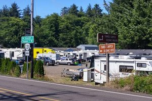 RV park next to the main road
