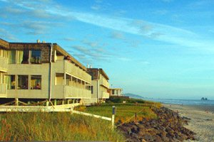 Exterior of a hotel off the beach
