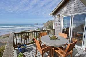 Balcony view of the beach