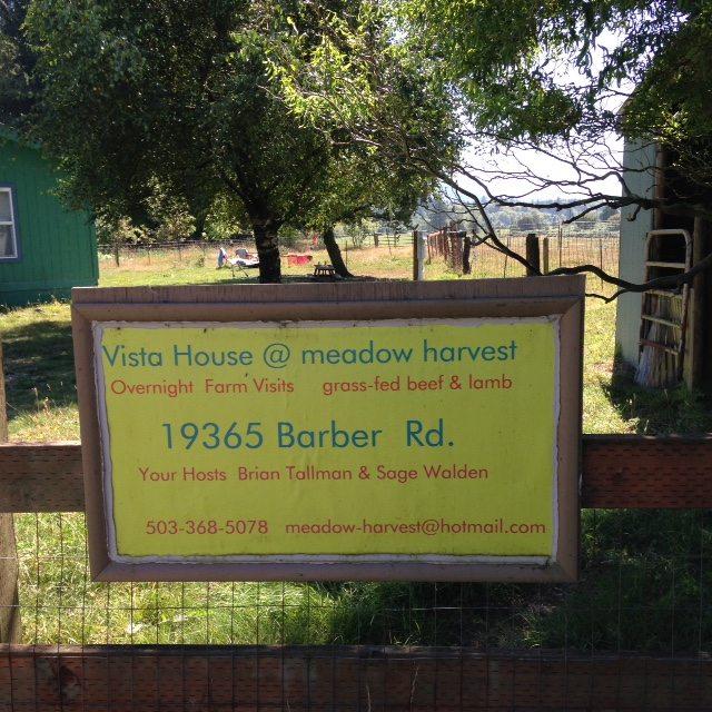 Vista House Sign