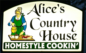 Alice's Country House Homestyle Cookin' logo