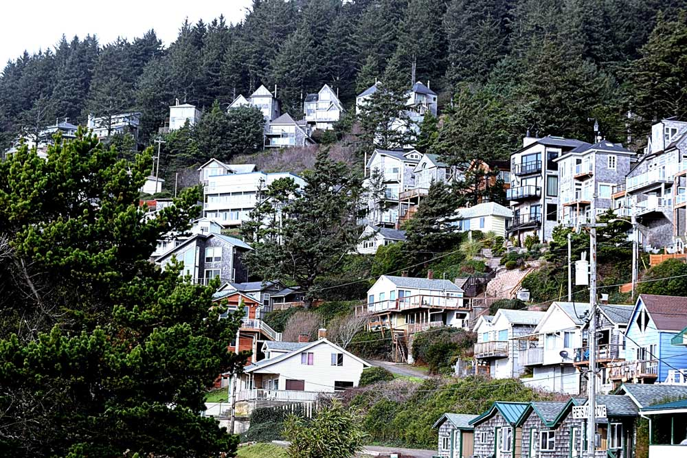 Oceanside Oregon hillside