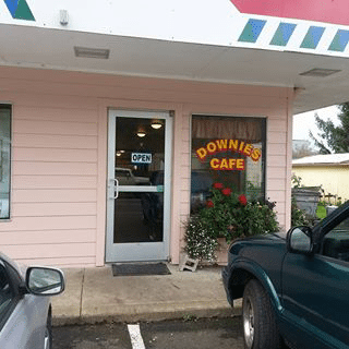 Exterior of Downies Cafe
