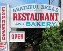 Sign for the Grateful Bread Restaurant and Bakery