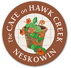 Cafe on Hawk Creek sign in Neskowin