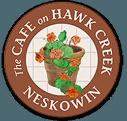 Cafe on Hawk Creek sign in Neskowin