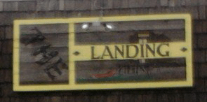 The Landing Restaurant sign