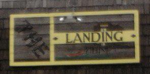 The Landing Restaurant sign