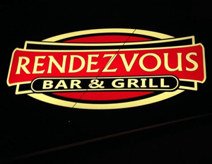Rendezvous Bar & Grill sign