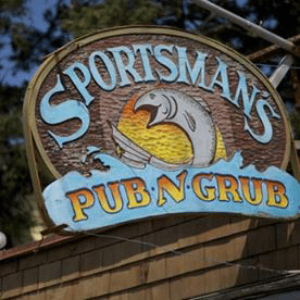 Sportsman Pub n Grub wooden sign