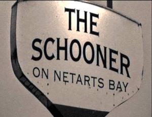 Sign for The Schooner on Netarts Bay