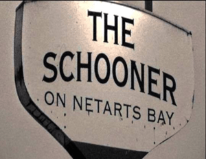 Sign for The Schooner on Netarts Bay