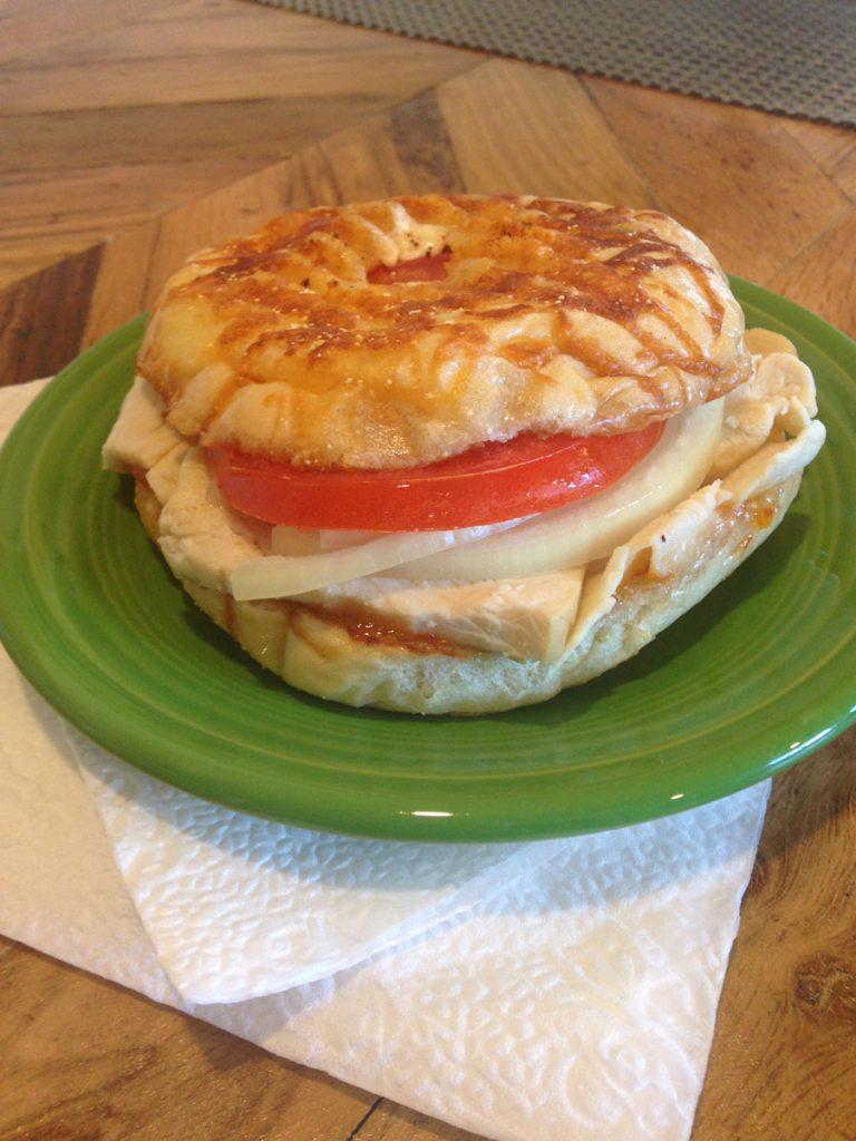 Crescent Station Tillamook bagel turkey sandwich