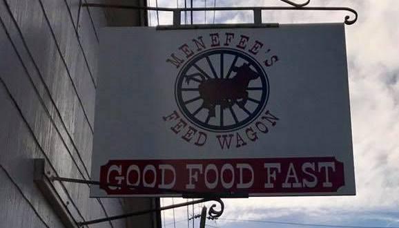 Menefee's Feed Wagon sign
