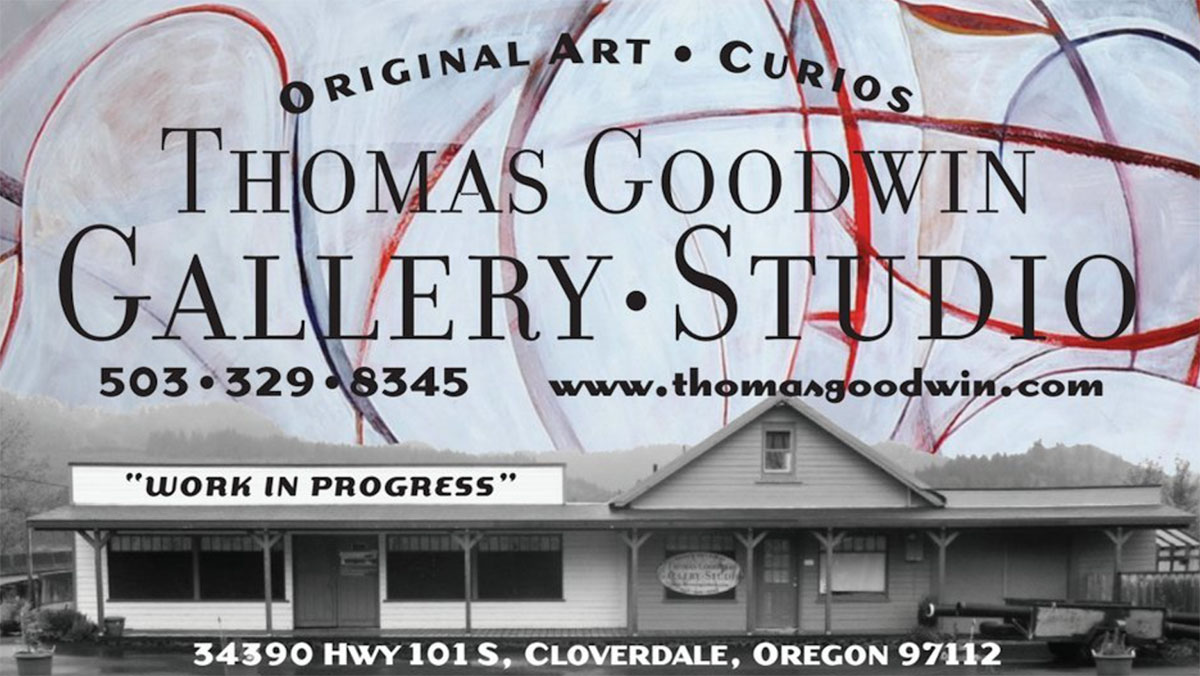 Thomas Goodwin Gallery Studio sign