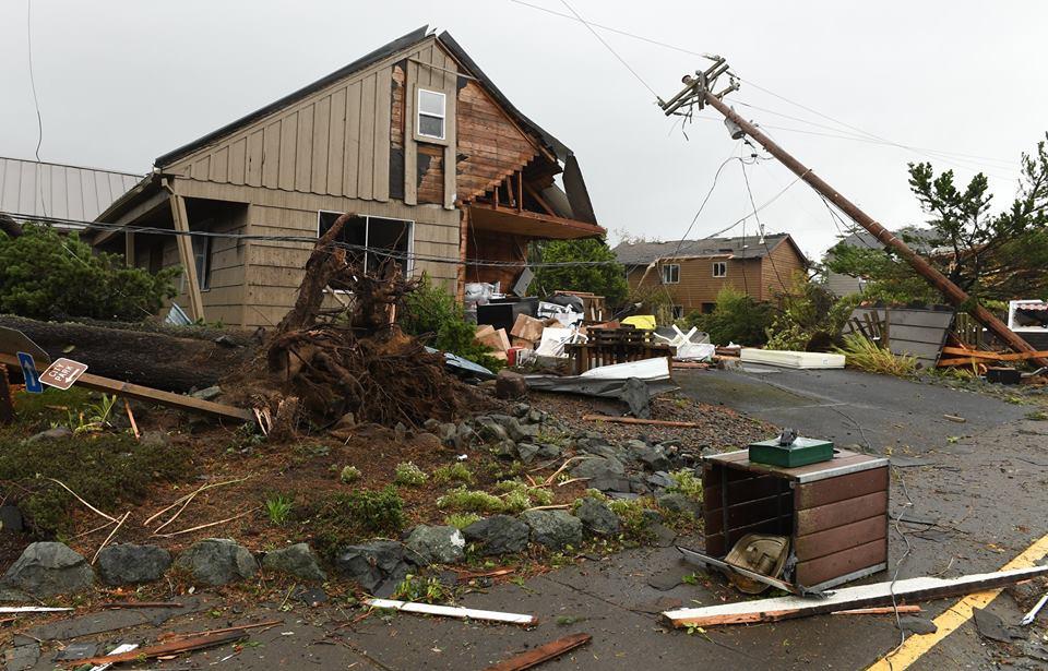 Manzanita tornado damage