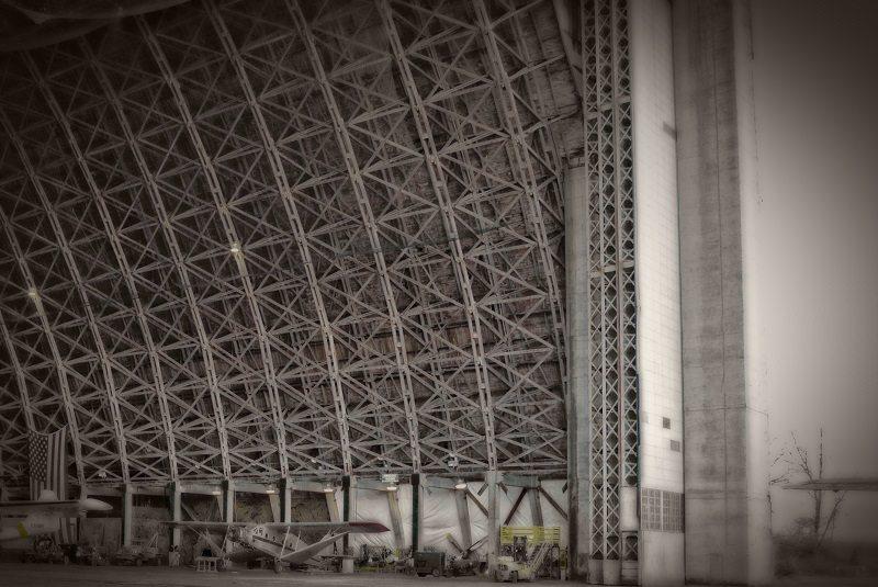 Interior of a plane hangar