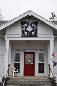 Once the Maple Leaf School the Latimer Quilt and Textile Center boasts one of the 104 quilt square pieces included in the Tillamook County Quilt Trail