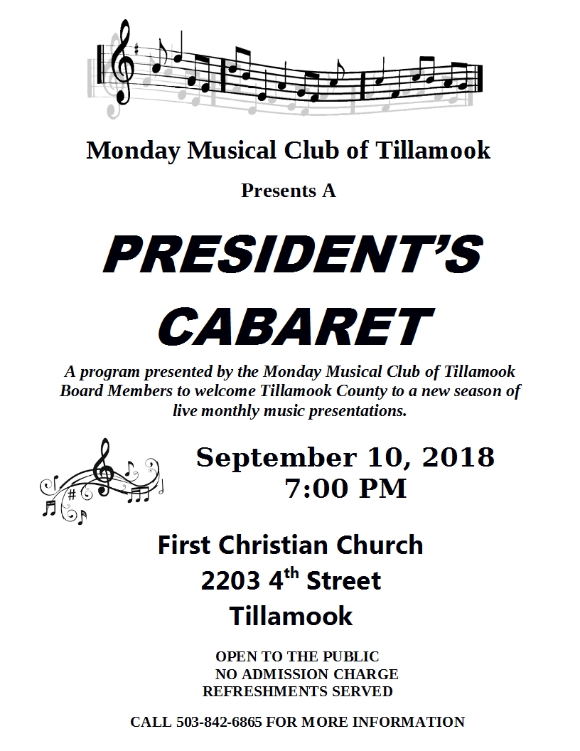 Presidents Cabaret September 2018