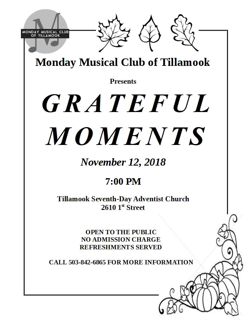 Grateful Moments November 2018