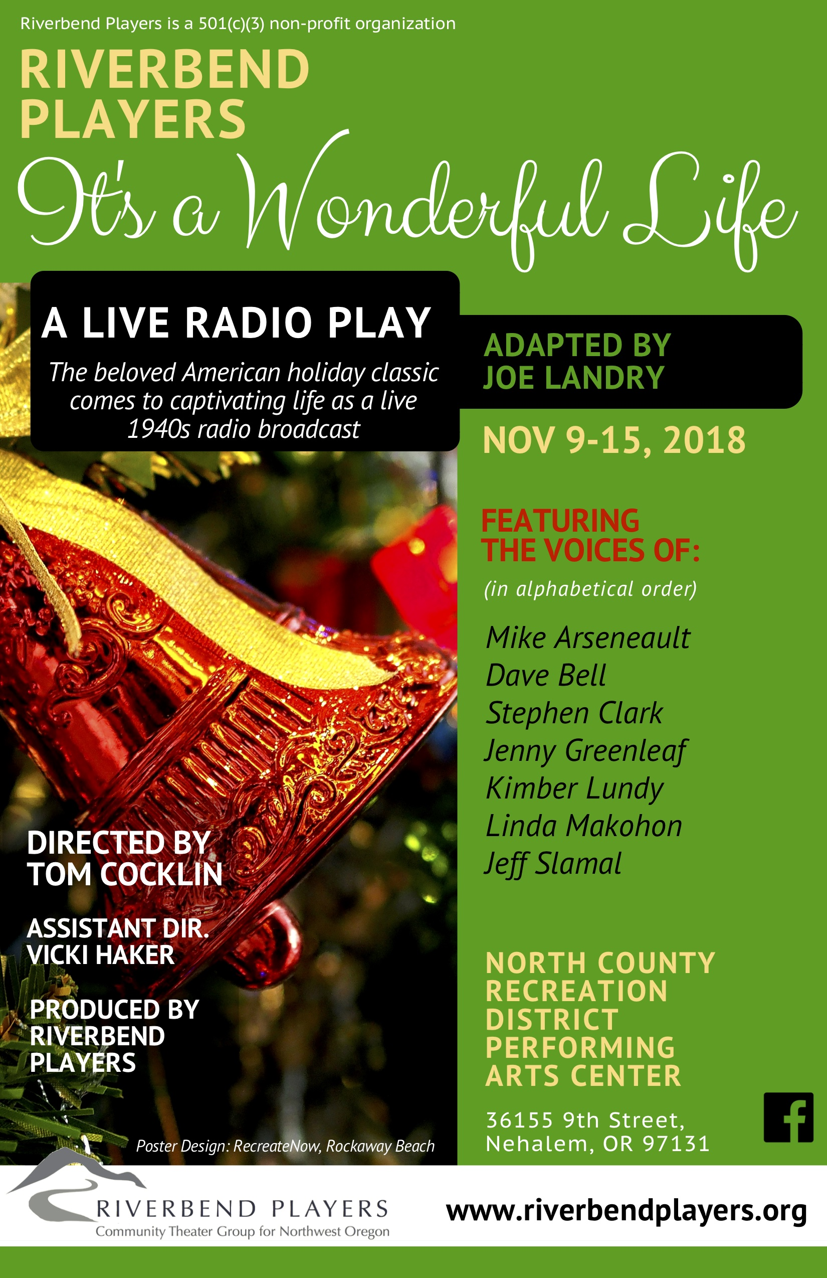 Riverbend Players Its A Wonderful Life Radio Play 1 1
